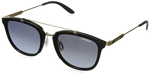 Carrera Men's Ca127s Square Sunglasses, Shiny Black Gold/gray Gradient, 51 ()