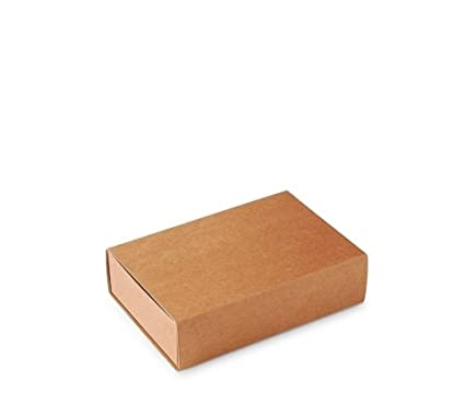 Caja Tipo de cerillas, Packaging de Regalo. Color Kraft. Pack de 50 Unidades