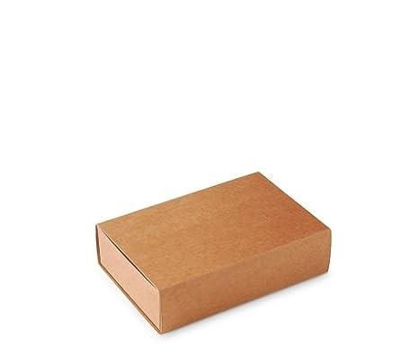 Caja Tipo de cerillas, Packaging de Regalo. Color Kraft. Pack de 50 Unidades - M: Amazon.es: Hogar