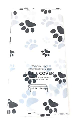 Puppy Dog Paw Print Plastic Table Cover (1)