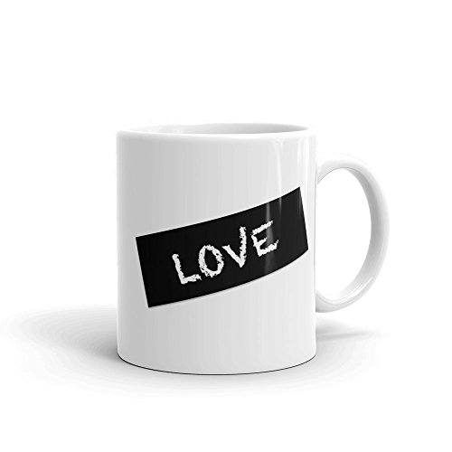 Love Coffee Mug (11oz or 15oz) | FREE SHIPPING OneWord Command | Express yourself at the office cubicle school classroom home kitchen boardroom with this cool & trendy pop culture - Culture Shipping Love