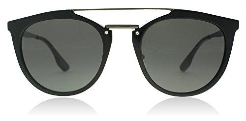 McQ - Alexander McQueen Women's Oxford Sunglasses, Black/Grey, One - Mcqueen Alexander Eyewear