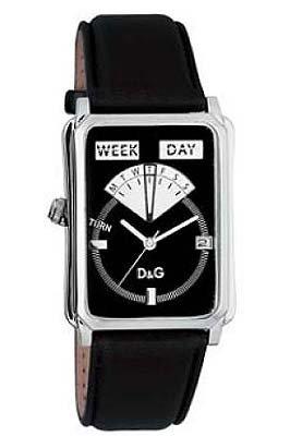 D&G Dolce&Gabbana D&G Sea Quest – Reloj analógico unisex de cuarzo con correa de piel negra – sumergible a 30 metros