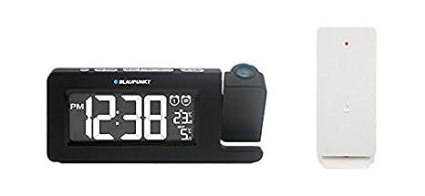 Blaupunkt crp10bk Reloj Radio con Pantalla, termómetro, lámpara de Negro