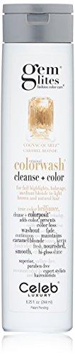 Rich Cognac (Gem Lites Color Depositing Shampoo: Cognac Quartz Caramel Blonde Cleansing Hydrating Colorwash, 8.25oz)