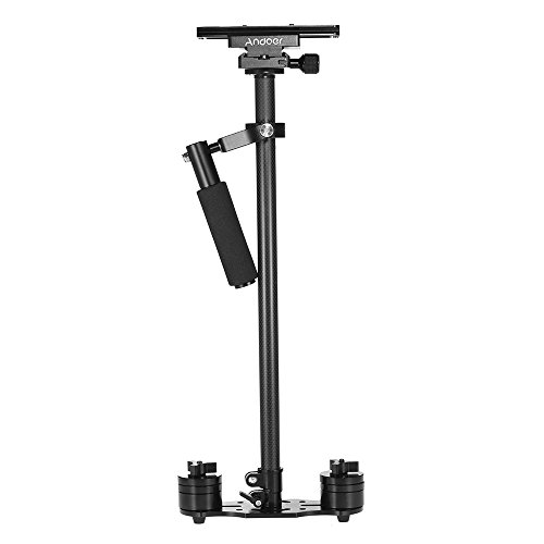 Andoer SY-JQ08 Pro 31.5 Inch / 80cm Carbon Fiber Handheld Stabilizer with Quick Release Plate and Clamp Base for Canon Nikon Sony DSLR Cameras Lightweight Camcorders Max Load 4kg
