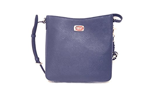 Michael Kors Jet Set Travel Large Messenger Crossbody (Navy) by Michael Kors