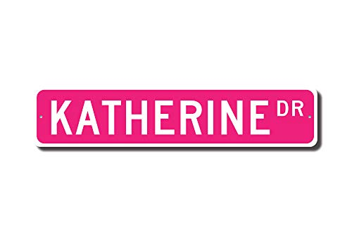 (Iliogine Katherine Sign Katherine Birthday Gift Child Gift Grandchild Gift Katherine Decor Street Sign Funny Gifts for Garage Yard Fence Driveway Decor)