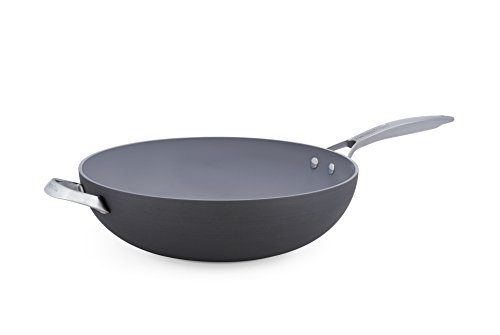 GreenPan Paris 12.5 Inch Ceramic Non-Stick Wok, Gray - CC000041-001