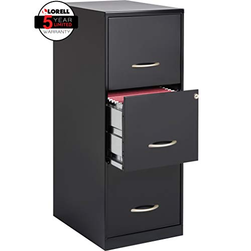 Rod Finish Closet - LLR18573 - Lorell SOHO 18 3-Drawer Vertical File