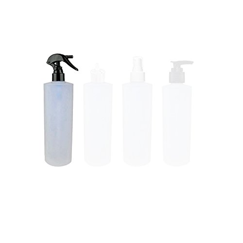 Perfume Studio 4oz Trigger Spray Plastic Bottles, 8-Pack - Strong and Safe HDPE Plastic with 24/410 Neck Finish (Black Trigger Sprayer)