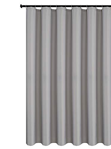 Biscaynebay Fabric Shower Curtain Liner, Water Resistant Bathroom Curtain Liner, 72 by 72 Inch Silver Grey (Curtains Grey Silver)