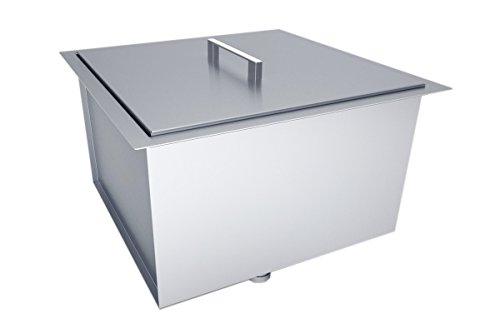 SUNSTONE B-SK20 Over/Under Height Single Basin Sink with Cover, 20'' x 12'', Stainless Steel by SUNSTONE