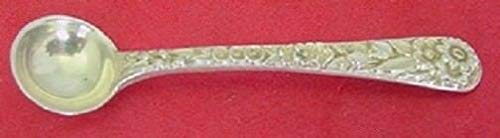 (Repousse By Kirk Sterling Silver Salt Spoon Original 2 3/8