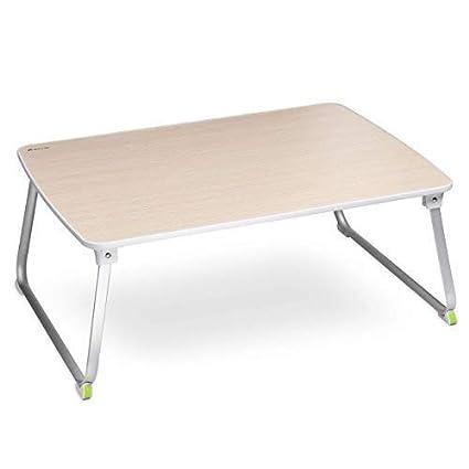 Tavolino Da Letto.Salcar Tavolino Da Letto Per Laptop 70 X 50 Cm Regolabile E Portatile Per Colazione Notebook Libri Mini Tavolino Colore Legno