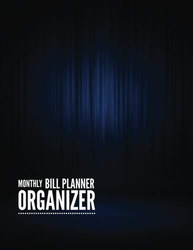 Cheap  Monthly Bill Planner Organizer: Luxury Blue Design Monthly Money Management Budget Workbook..