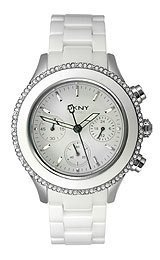 DKNY Ceramic Chronograph with Glitz Women's watch #NY8672