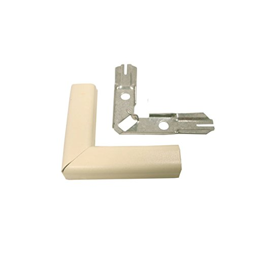 Wiremold GIDDS-751022 V500 90 Degree Flat Elbow Fitting, Steel, Single-Channel, Ivory, 2