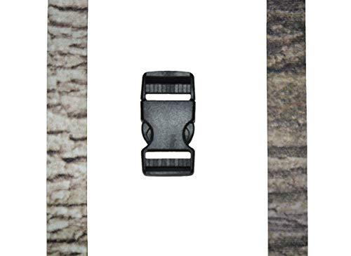 Timberblend Tree Bark Camouflage Trail Game Camera Strap 2 Pattern Reversible (White Oak/Red Oak) ()
