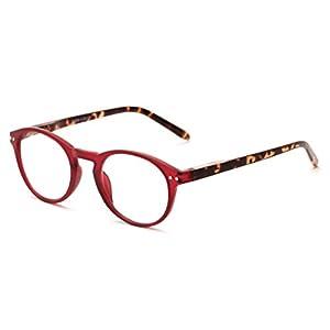 Readers.com The Dandelion +1.75 Matte Red/Tortoise Plastic Trendy Round Reading Glasses