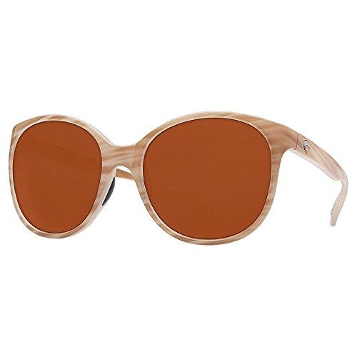 Costa Del Mar Goby Polarized Women's Sunglasses Morena/400P Dark - Sunglasses Vermillion