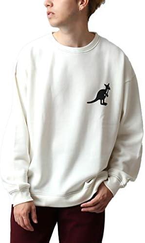 [REPIDO (リピード)] KANGOL/カンゴール 別注 スウェット ロゴ刺繍 ステッチ 長袖 ビッグシルエット トレーナー ハーフジップ