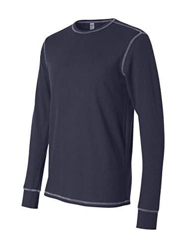 Bella+Canvas Men's Thermal Blended Long-Sleeve Tee Navy XL