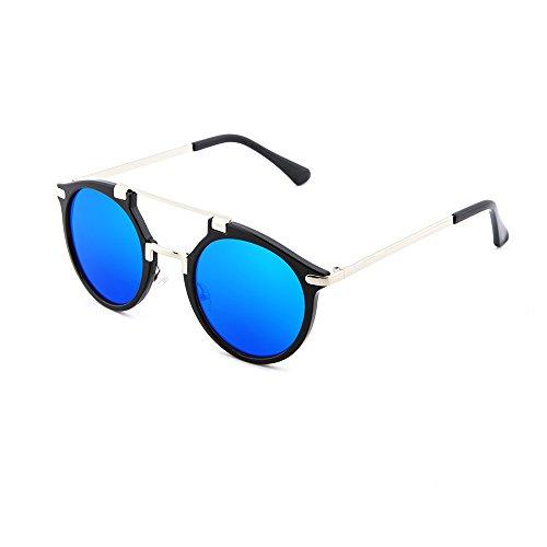 hombre ROTHKO Gafas Azul TWIG redondo mujer espejo sol de Negro CfqYwA1