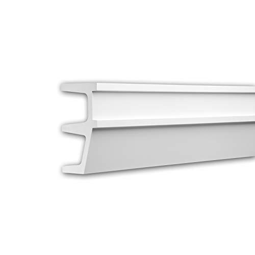 Panel Moulding 151603 Profhome Dado Rail Decorative Moulding Frieze Moulding Contemporary Design White 2 m ()