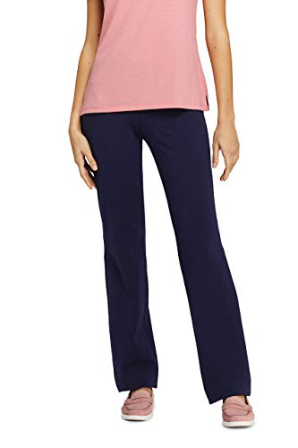 Lands' End Women's Starfish Straight Leg Elastic Waist Pants Mid Rise from Lands' End
