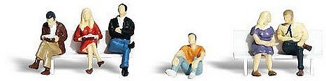(Woodland Scenics HO Scale Scenic Accents Figures/People Set People Sitting (6))