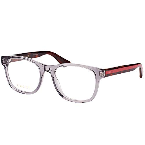 Gucci GG 0004O 004 Transparent Light Grey Plastic Square Eyeglasses 53mm from Gucci