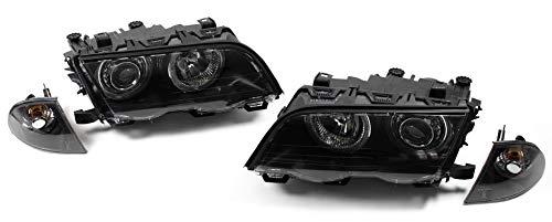 1030107 Angel Eyes Faro Negro Incluye Intermitente para Serie 3 E46 Sed/án Touring