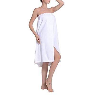 TopTie Women's Cotton Cover Up Spa Shower Bath Wrap Adjustable Buttons Closure