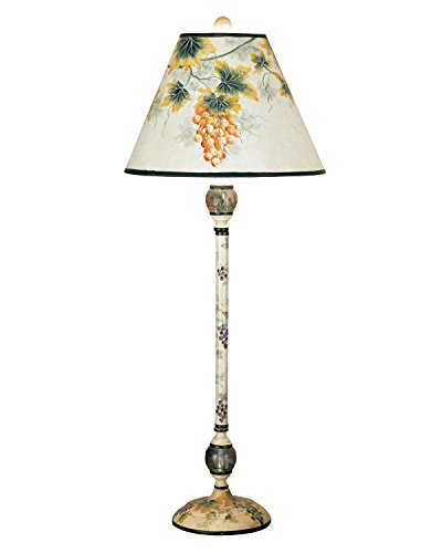 Grapevine Table Lamp (Painted Metal Grapevine)