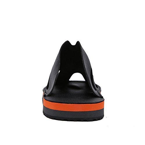 Shoes Flops Flip Men's Black Casual Walking Leather HUAN Slippers amp; C White for Shoes Fashion Summer Orange 0wpTnqxzS