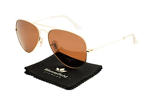 Bloomfield Original Metal Aviator Sunglasses 100% UV protection (UV400) for men and women with polarized and mirrored lenses Ponza 58 (Hard - Polarized Sunglases