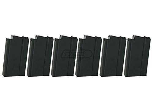 Classic Army M14 470 rd. AEG High Capacity Magazine - 6 Pack (Black) by Classic Army