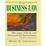 Business Law, Cheeseman, 0137605390