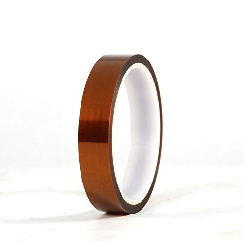 High Temp Tape, 2 Roll High-Temperature Resistant Tape,Electrical Tape with Silicone Adhesive for Masking,3D Printing,Electric Task,Soldering(Dark brown)