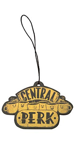 Central Perk - Parody Design Engraved Printed Wooden Rear View Mirror Car Charm Dangler -