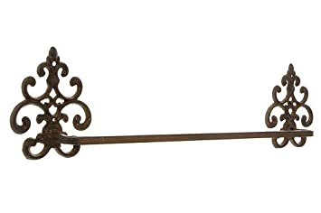 Handtuchhalter Landhausstil rustikaler handtuchhalter gusseisen landhaus 57cm amazon de küche