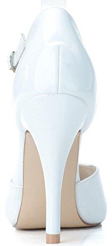 Blanc EU Find Cheville 36 Blanc 5 Femme Bride Nice wcH8RHxqgX
