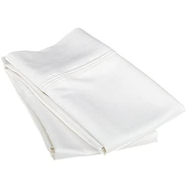 1200 Thread Count 100% Egyptian Cotton, Soft and breathable, 2-Piece Standard Pillowcase Set Solid, White