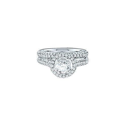 1.23CT DIAMOND BRIDAL RING WITH 0.40CT ROUND CENTER (0.4 Round Center Ct)