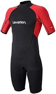 Lemorecn Wetsuits Adult's Premium Neoprene Diving Suit 3mm Shorty Jump