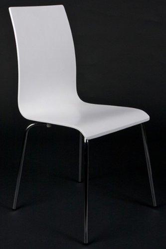 Sedie Legno E Acciaio.Sedie Design In Legno E Acciaio Cromato Bianco Sedie Per