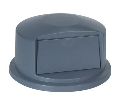 Rubbermaid Commercial Brute Dome Top Swing Door Lid, for 32-Gallon Container, Plastic, Gray, Sold Individually