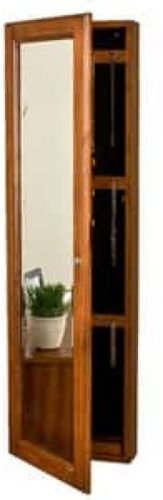 Oak Jewelry Armoire Storage Wall Mount Full Length Mirror Locking Distressed Finish Bedroom Decor by Lana45 (Image #6)