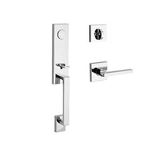- Baldwin FDSEAXSQULCSR260 Reserve Full Dummy Handleset Seattle x Square with Contemporary Square Rose in Bright Chrome Finish Left Hand